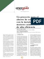 Un proyecto para el  ahorro de energía con la instalación de motores asincrónicos de alta eficiencia