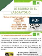 Presentación seguridad en laboratorio 25980-2013