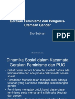 Gerakan Feminisme Dan Pengarus-Utamaan Gender