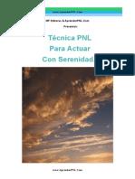 Tecnica PNL Para Actuar Con Serenidad- AprenderPNL