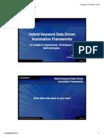 Hybrid Keyword Data Driven Automation Frameworks