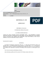 Corte Costituzionale, Finanziamenti Saga Pronuncia_299_2013