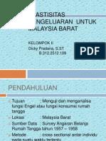 Elastisitas Pengeluaran Untuk Malaysia Barat