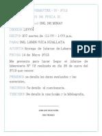 Imprimir La Caratula o Informe de Labortorio