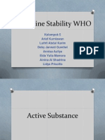 Guideline Stability WHO