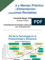 Feria Holstein, Aplicaciones de Biotecnología en la producción lechera, Fernando Bargo, Argentina.