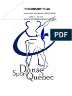 sponsorship plan -  canadian closed dancesport championship  2014 - en