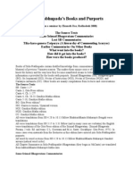 Srila Prabhupada's Books and Purports by Ekanatha.doc
