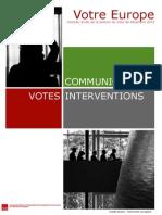 Bilan de la session plénière décembre 2013