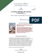 Novena a Nuestra Señora Virgen de Fátima