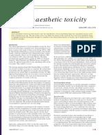 Toxicity Anestesi Lokal