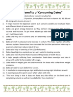 Health Benefits of Consuming Dates
