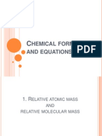Chemical Formulae and Equations