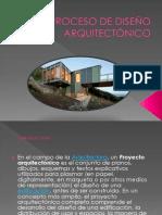proceso de diseño arquitectnico