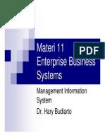 Materi 11 Enterprise Business Systems