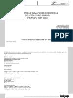 Estadisticas Climatologicas Basicas Del Estado de Sinaloa (Periodo 1961-2003)