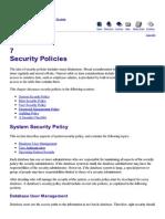 [Oracle] 7 Security Policies
