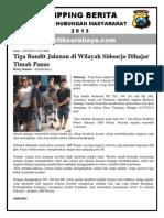 Tiga Bandit Jalanan Di Wilayah Sidoarjo Dihajar