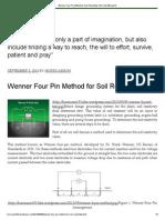 Wenner Four Pin Method for Soil Resistivity Test
