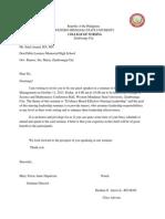 Letter of Guest Speaker
