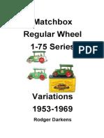 Matchbox diecast 1-75 Catalogue
