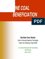 Fine Coal Beneficiation Presentation US-India Coal Working Group-2011