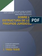 ALEXY SOBRE LA ESTRUCTURA DE LOS PRICIPIOS JURÍDICOS (JCSC)
