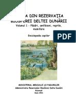 Coperta Brosura Din Enciclopedia Copiilor- Fauna Din Rezervatia Biosferei Deltei Dunarii