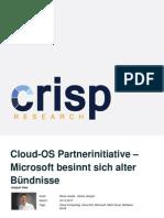 Cloud-OS Partnerinitiative - Microsoft besinnt sich alter Bündnisse