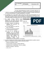 Examen sobre Factura Eléctrica 4º E.S.O. 2013-2014