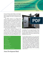 Pilot Fragility Assessment of an Informal Urban Settlement in Fiji