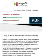 Sap is Retail Promotions Online Training