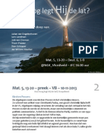 Mat. 5, 13-20 – preek – VB – 10-11-2013