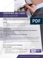 ISO 13053 Lead Auditor - One Page Brochure