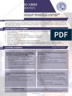 ISO 13053 Lead Implementer -Two Page Brochure