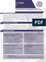 ISO 13053 Lead Auditor - Two Page Brochure