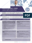 ISO 13053 Lead Implementer - Four Page Brochure