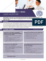 ISO 13053 Lead Auditor - Four Page Brochure