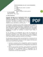 PLAN DE PREVENCIÓN INTEGRAL DE LOS Y LAS ESTUDIANTES
