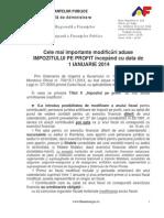 Comunicat MFP Profit 2014