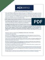 ADIUNPAZ. Análisis del Reglamento y calendario