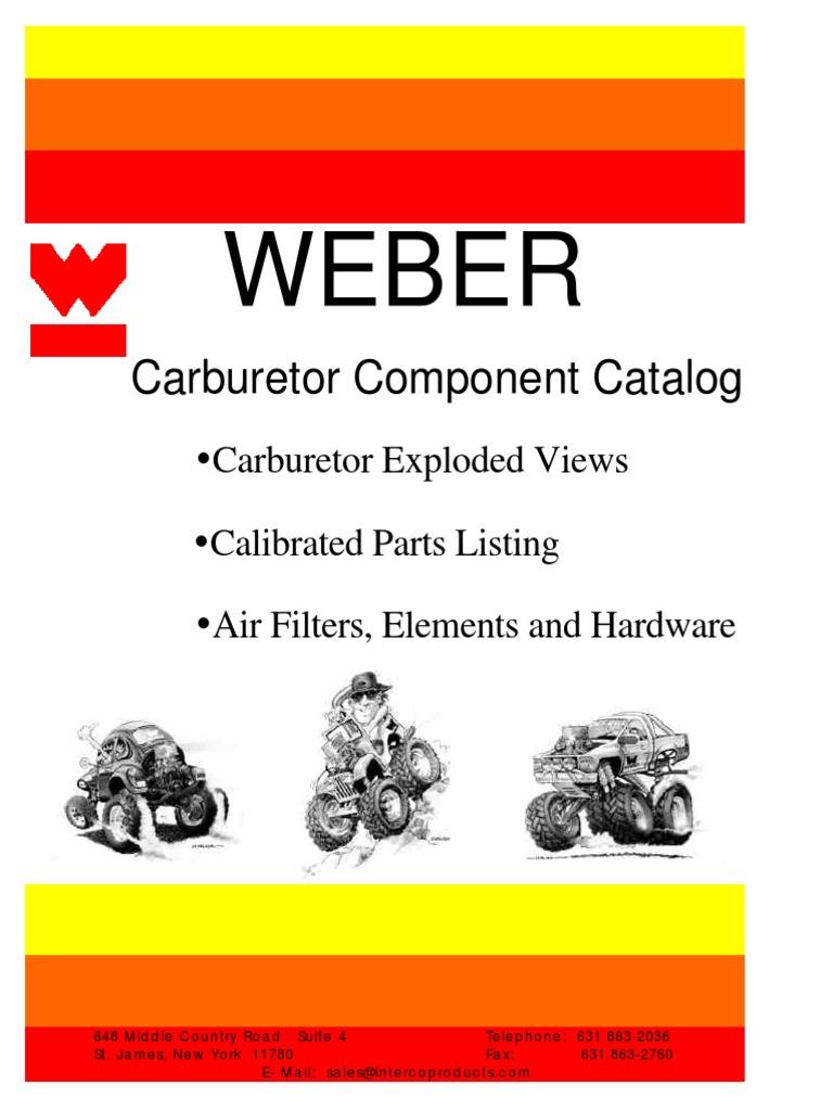 Weber Parts Catalog | Carburetor | Throttle