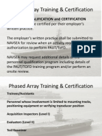 Phased Array Training Certification