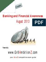Banking Financial Awareness August 2013