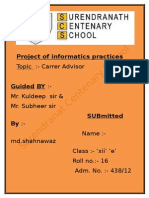 informatics practices  project for class xii