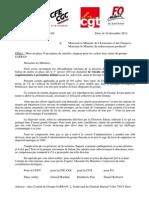 20131210 lettre intersyndicale SAFRAN à ministres