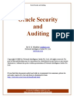 Oracle Security and Auditing
