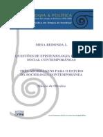 Artigo Correntes Sociologia Contemporanea