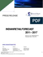 retailforecastofindia2011-pressrelease-110316073808-phpapp02