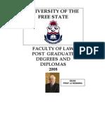 Postgraduate Law Free State